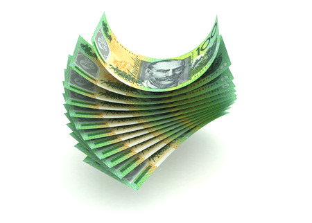 Australian Currency  isolated with clipping path  photo