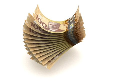canadian currency: Canadian Currency  isolated with clipping path  Stock Photo