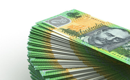 heap of dollar: Stack of Australian Dollar