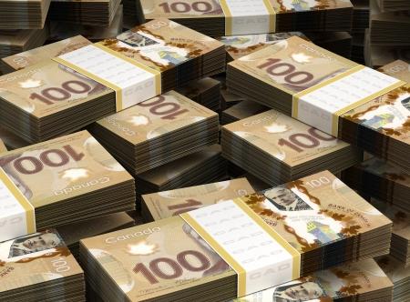 Stack of Canadian Dollar Standard-Bild