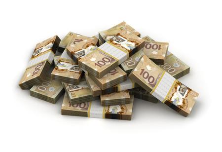 Pile de Dollar Canadien