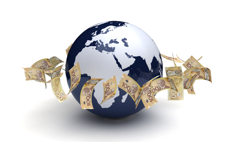 canadian currency: Global Business Canadian Currency