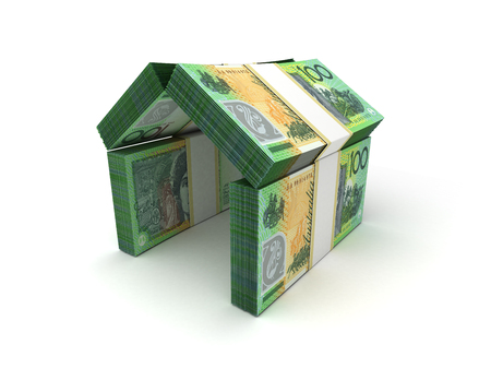 australian money: Real Estate Concept Australian Dollar Stock Photo