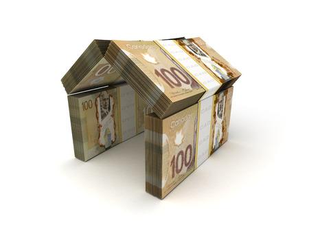 canadian dollar: Real Estate Concept Canadian Dollar Stock Photo