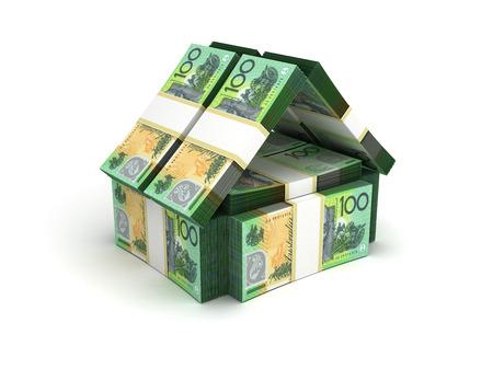 Real Estate Concept Australian Dollar Standard-Bild