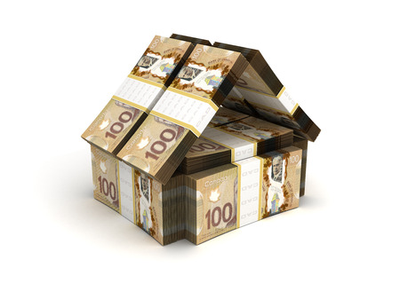Real Estate Concept Canadese Dollar Stockfoto
