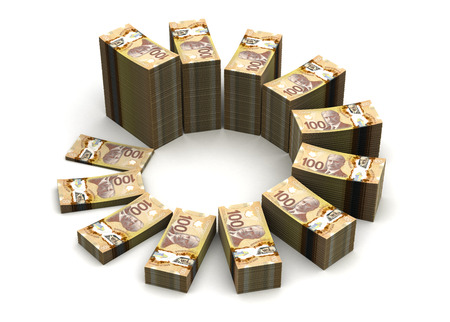 canadian currency: Canadian Dollar Chart Stock Photo