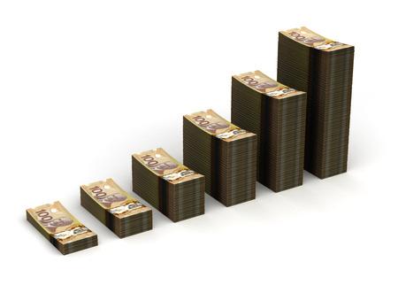 canadian dollar: Canadian Dollar Graph Stock Photo