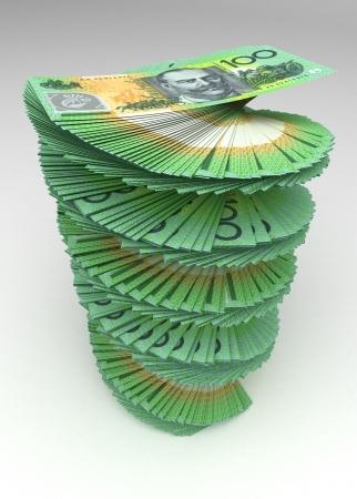 australian money: Australian Dollar Tower Stock Photo