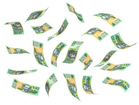 australian money: Flying Australian Dollar   Stock Photo
