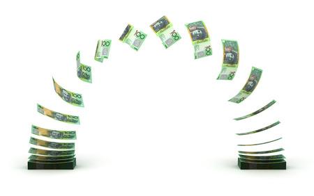 stack: Australian Dollar Transfer   Stock Photo