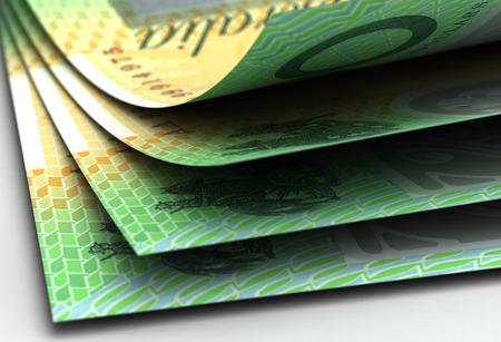 australian money: Australian Dollar Closeup