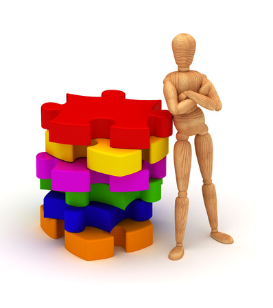 Colorful puzzles photo