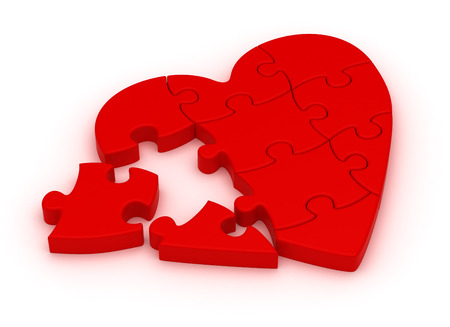 Puzzle Heart Standard-Bild