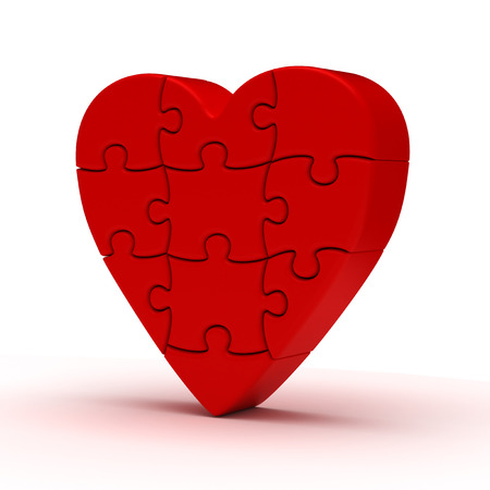 puzzle heart: Puzzle Heart Stock Photo