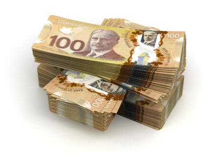 고립 된 미국 달러의 스택 스톡 콘텐츠