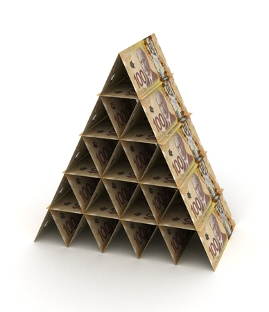 canadian currency: Canadian Dollar Pyramid