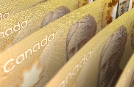 canadian currency: Canadian Dollar Closeup