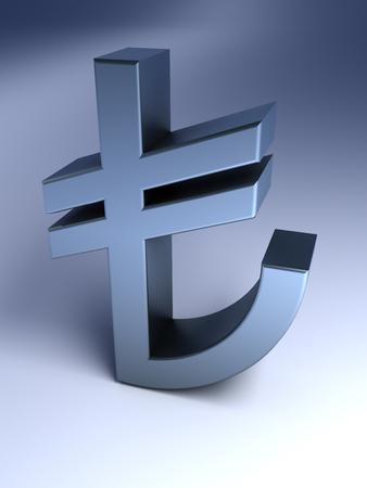 turkish lira: Turkish Lira Sign Stock Photo