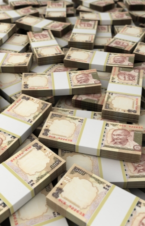rupee: Stack of Indian Rupee