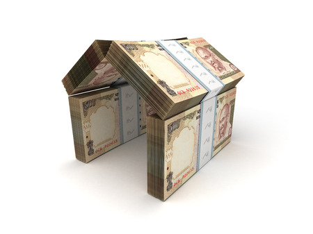 indian money: Real Estate Concept Indian Rupee