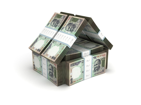 paper currency: Real Estate Concept Indian Rupee