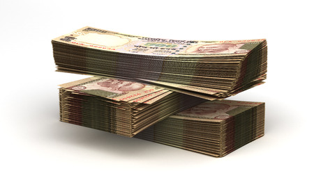indian currency: Stack of Indian Rupee