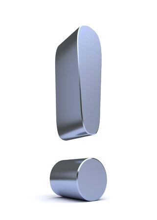 blue metallic background: Exclamation Symbol