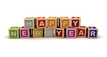 Happy New Year With Play Cubes photo