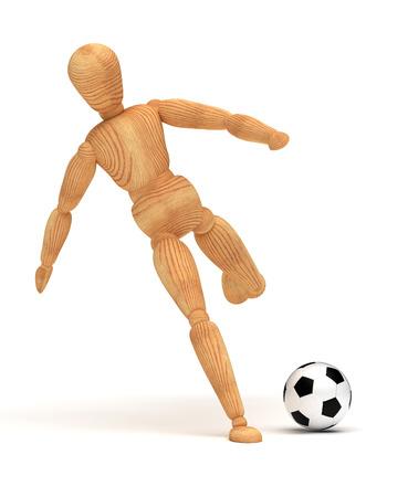 marioneta de madera: Jugador de fútbol