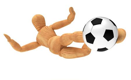 wooden doll: Side Kick Stock Photo