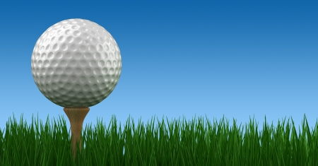 Golf Ball on Tee photo