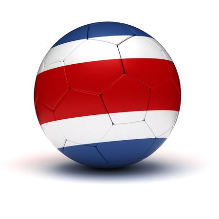 3d ball: Costarican Football  isolated