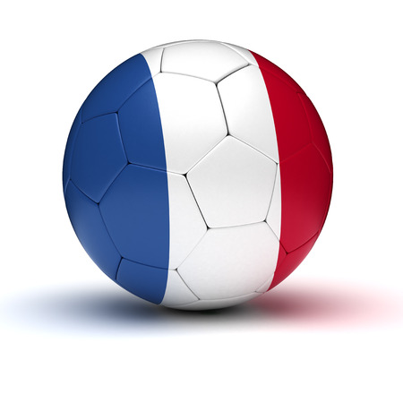 3d ball: French Football  isolated Stock Photo