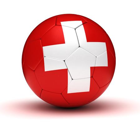 swiss flag: Swiss Football  isolated