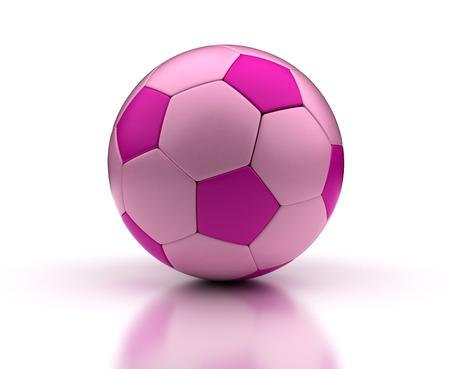 3d ball: Pink Football