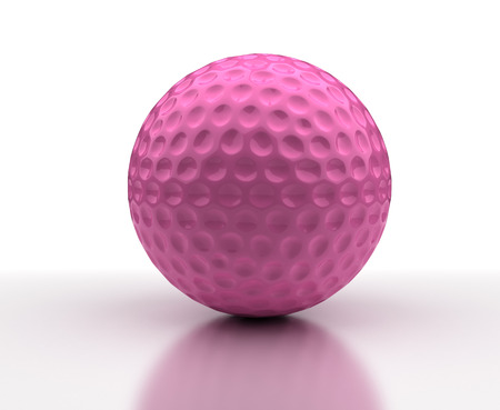 Pink Golf ball photo