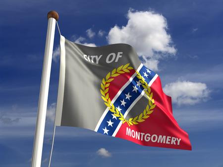 montgomery: Montgomery City flag  isolated Stock Photo