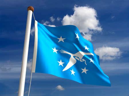corpus: Corpus Christi City flag  isolated Stock Photo