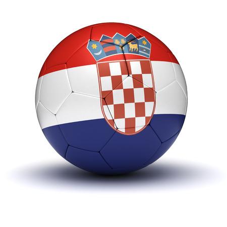 bandera croacia: Croata de F�tbol aislado Foto de archivo