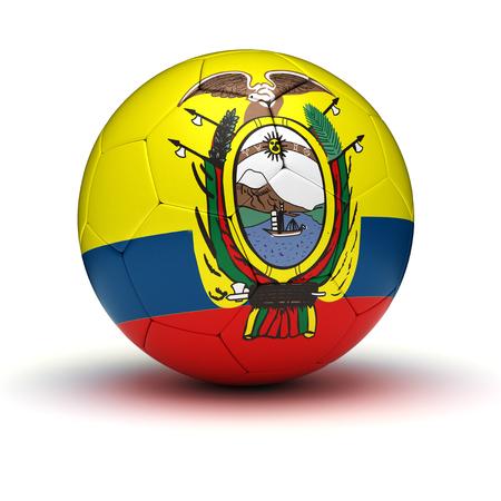 ecuador: Ecuadorian Football  isolated Stock Photo