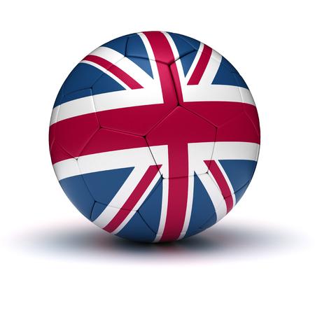 bandera inglesa: Fútbol del Reino Unido aislado Foto de archivo