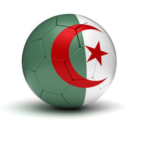 algerian flag: Algerian Football  isolated with clipping path