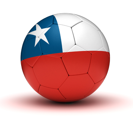bandera de chile: Fútbol de Chile aislado con trazado de recorte