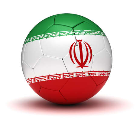 iranian: Iranian Football  isolated with clipping path  Stock Photo