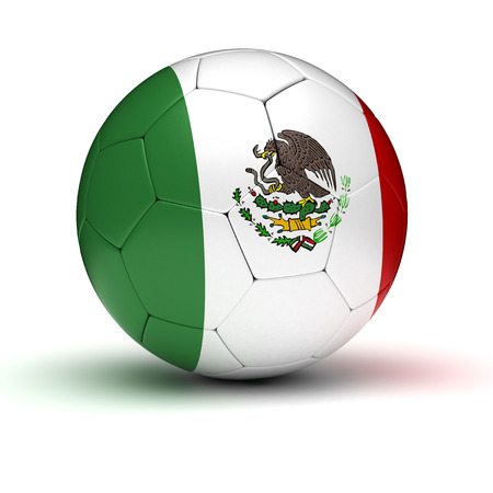 Mexican Football  isolated with clipping path  Stock Photo