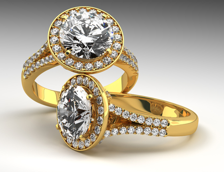 Two rings with multi diamonds photo