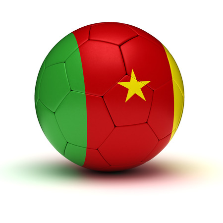 cameroonian: Cameroonian Football  isolated