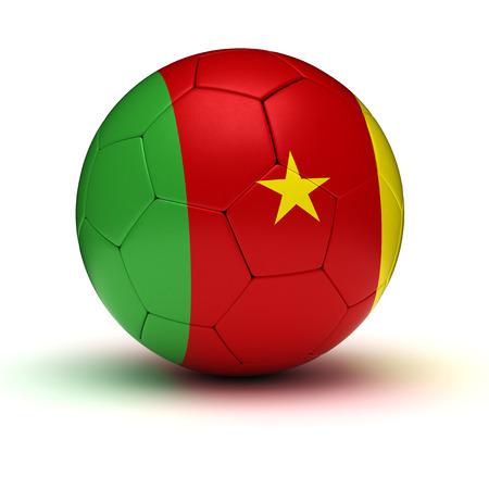 cameroonian: Cameroonian Football  isolated