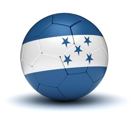 bandera honduras: Fútbol de Honduras aislado Foto de archivo